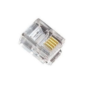 Conectores Rj11 Cat De 4 Pines Para Telefonos