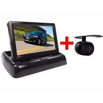 Câmera De Ré Borboleta Veicular + Monitor Tela 4.3 Retrátil