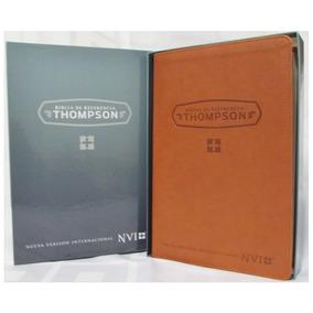 Biblia De Referencia Thompson Piel Italiana Cafe Nvi