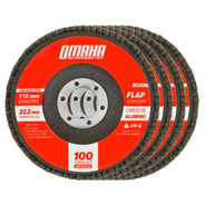 Disco Flap 115mm Oxido De Aluminio Grano 100 Pack X 10 Omaha