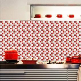 Adesivo Pastilhas Decorativo Papel De Parede Cozinha M29