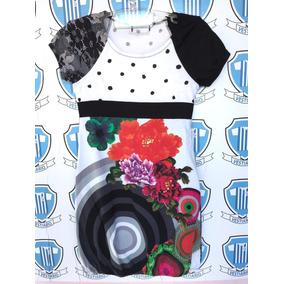 Vestido Desigual Importado Sem Defeito 11/12 Anos Original