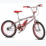 Bike Infantil Top Cross Aro 20 Masculina Cromada E Vermelha