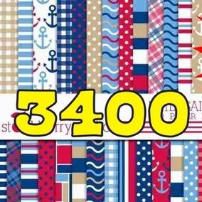 Kit Scrapbook Digital Papeles Marinero + 3400 Imagenes 40gb!