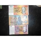 Lote 3 Billetes Dolares Australianos Subasta $1