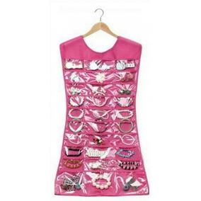 Vestido Organizador De Joyas, Alhajas Y Bisutería Color Rosa