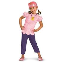 Las Niñas Disfraz De Disney Jake Y El Traje Rosa Piratas De