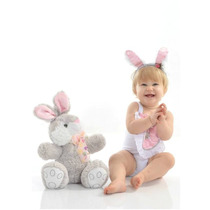 Fantasia P/ Bebê Body Collant Coelhinha
