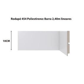 Rodapé Branco Santa Luzia Poliestireno 454- 10cm/barra 2,40m