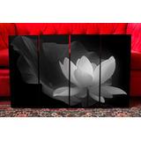 Cuadros Modernos Zen Flor De Loto Blanco Y Negro. Decoración