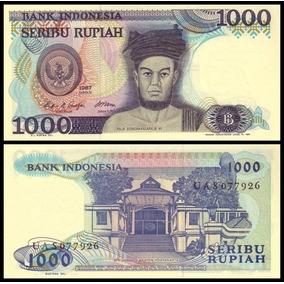 Indonesia P-124a Fe 1.000 Rupiah 1987 * C O L *