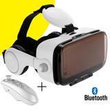 Gafas Realidad Virtual 3d Con Audifonos + Control Bluetooth