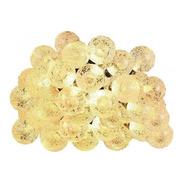 Guirnalda 16 Bolitas Cristal Calido 3.5mt (pilas )