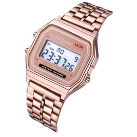 Lote De 10 Pz Reloj Unisex Digital Wr A168 Retro Metal + Eg