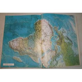 Libro Enorme Antiguo Atlas Barsa Lleno De Mapas A Todo Color
