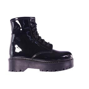 Borcegos Mujer Acordonados Plataforma Botitas Tops Zapatos