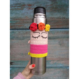Frida Funda Termo+mate Tejido Al Crochet