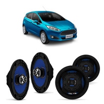 Kit 4 Alto Falante 6 Pol Triaxial Ford Fiesta 55w Rms Cada