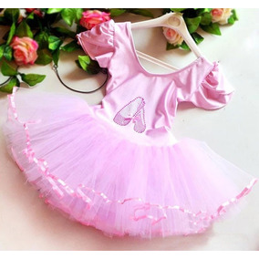 dbdc94dda4 Vestido Princesa Rosa Bailarina Tutu - Vestidos no Mercado Livre Brasil