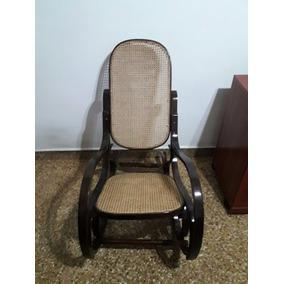 silla mecedora antigua thonet con esterilla