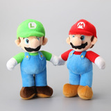 Mario Y Luigi Set 2 Peluches 25cm Nuevos Super Mario Bros