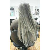 Alongamento Tic Tac Ombre Hair Acizentado / Orgânico 65 Cm.
