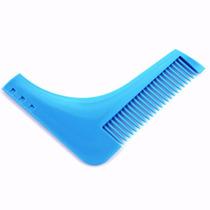 Peine Delineador Para Barba Y Bigote Azul Beard
