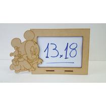 29 Porta Retratos Mickey Bebe 7x10 Mdf Fibrofacil Cortelaser