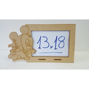 10 Porta Retratos Mikey Bebe 13x18 Mdf Fibrofacil Cortelaser