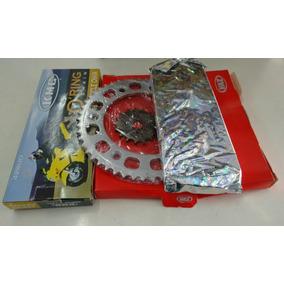 Kit Relação Completa Nxr150 Bross Vaz/kmc Aço 1045 Retentor