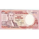 Colombia, Antiguo Billete Coleccionable 100 Pesos 1.991
