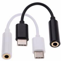 Cable Usb Tipo C A Plug 3.5mm Audifonos Macho- Hembra Musica