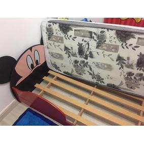 4d7d4d5b49 Mini Cama Infantil Mickey Disney Vermelho Com Colchão