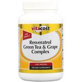 Vitacost Resveratrol + Té Verde Y Uva Complex - 120 Cápsulas