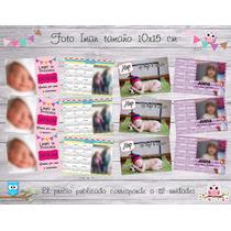 Imanes Personalizados - Foto Iman- Calendario- 10x15 Cm 12 U