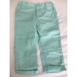 Pantalón Verde Agua Talle 18-24 Nuevo H&m Hym