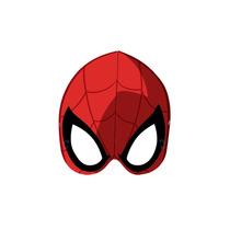 Máscara Spider Man Homem Aranha Quadrinhos Com 6un