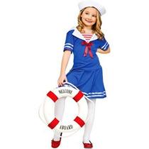 Disfraz Para Niña Mar Del Marinero Del Traje De Los Niños S