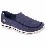 Tênis Skechers Go Walk 2 Super Sock Masculino Azul Navy