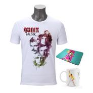 Playera Queen Rock Freddie Mercury Taza Y Mouse Pad