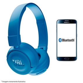 Fone Ouvido Microfone Bluetooth Bateria Recarregavel Azul
