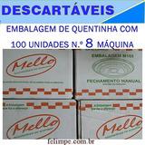 Quentinha Mello N.º 8 Maquina Embalagem Com 100 Unidades= Rj