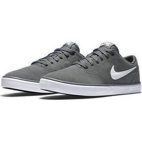 Zapatillas Nike Sb Check Solar Gris Cool Grey Original Cuero