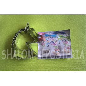 *kit 3 Cortadores Galleta Unicornio Perfil Fondant Royal