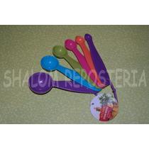 *kit 6 Cucharas Medidoras Galletas Pastel Cupcake Fondant*