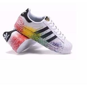 Tenis adidas Superstar Colors Pichado Colorido