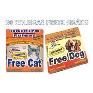50 Coleiras Antipulgas Gatos E Cachorro Kit Sortido Atacado