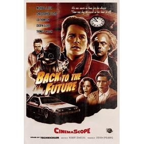 Desenho Poster Retro Devolta Para O Futuro Decorativo A3