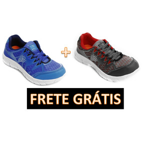 Kit Tenis Caminhada Unissex 2 Pares + Brinde + Frete Grátis