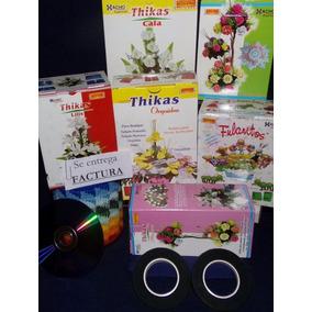 30 Pares Moldes Para Flores C/ Goma Eva - Frisadores 6 Kits